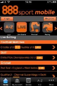 888Sport Promo Code Screen