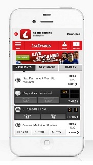 Ladbrokes mobile app pic